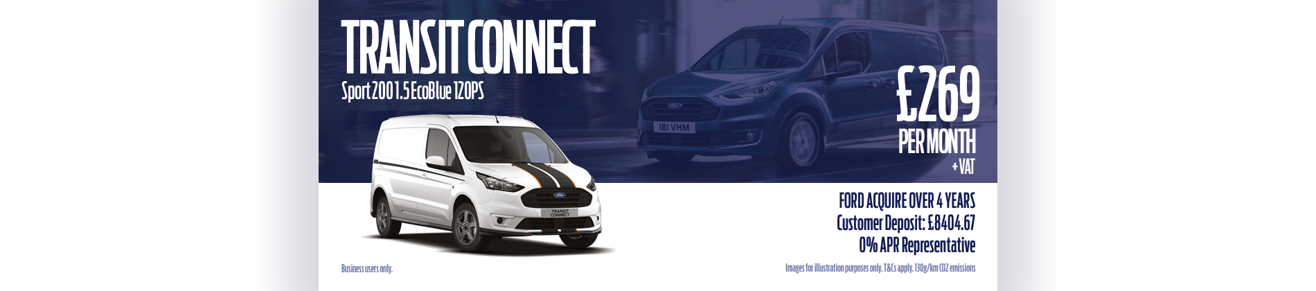 Ford Transit Connect monthly payments
