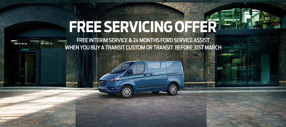 Ford Transit Custom free servicing offer