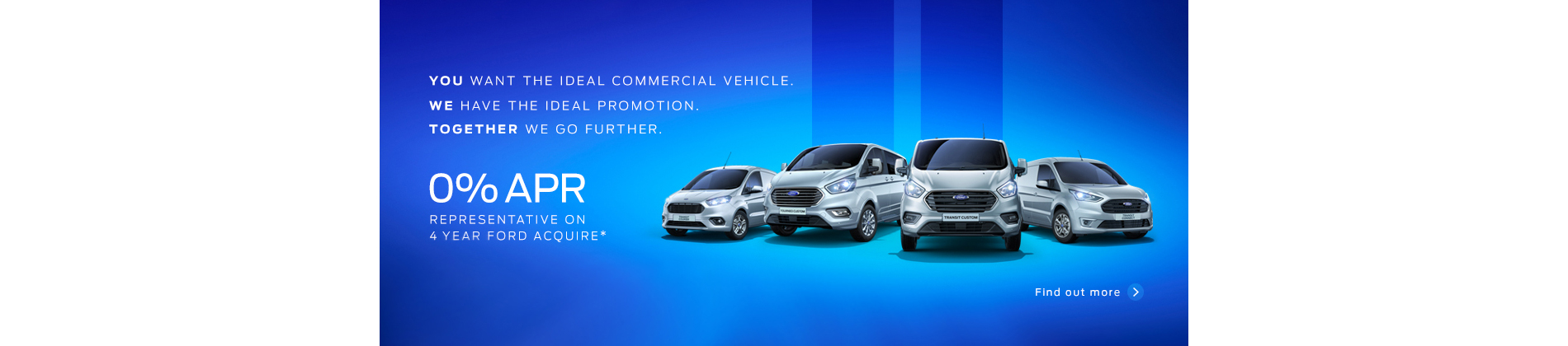 Ford Transit range 0% APR offer